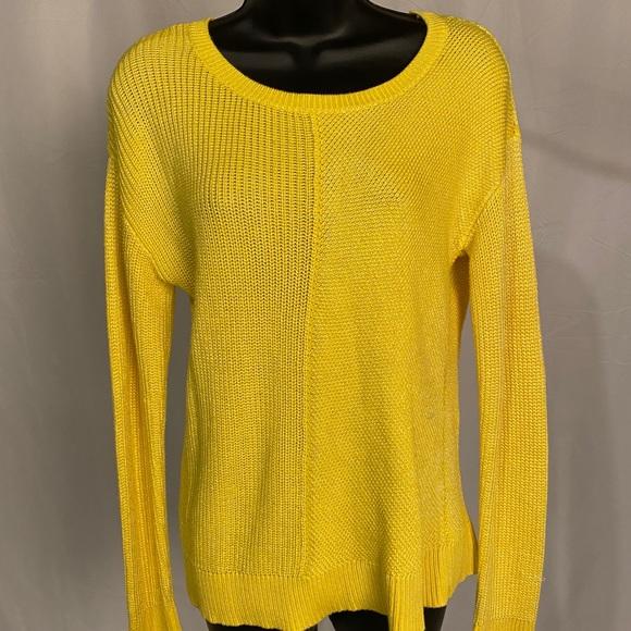 Calvin Klein yellow heavy knit sweater